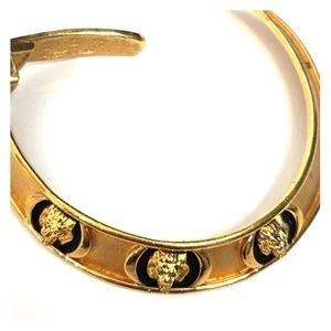 Vintage Gold Metal Lion Head choker